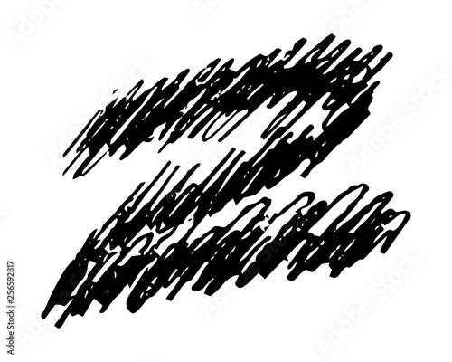 Hand drawn Pencil Scribble Zigzag