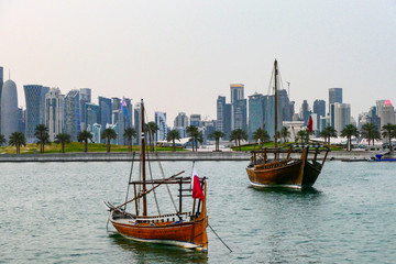DOHA, QATAR Skyline. West Bay