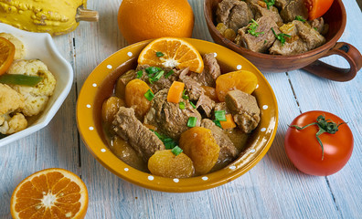 Moroccan Lamb or Beef Tagine with Apricots