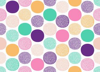 Seamless creative stylish doodle dots playful pattern - Vector - 256605613
