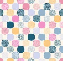 Seamless creative stylish doodle dots playful pattern - Vector