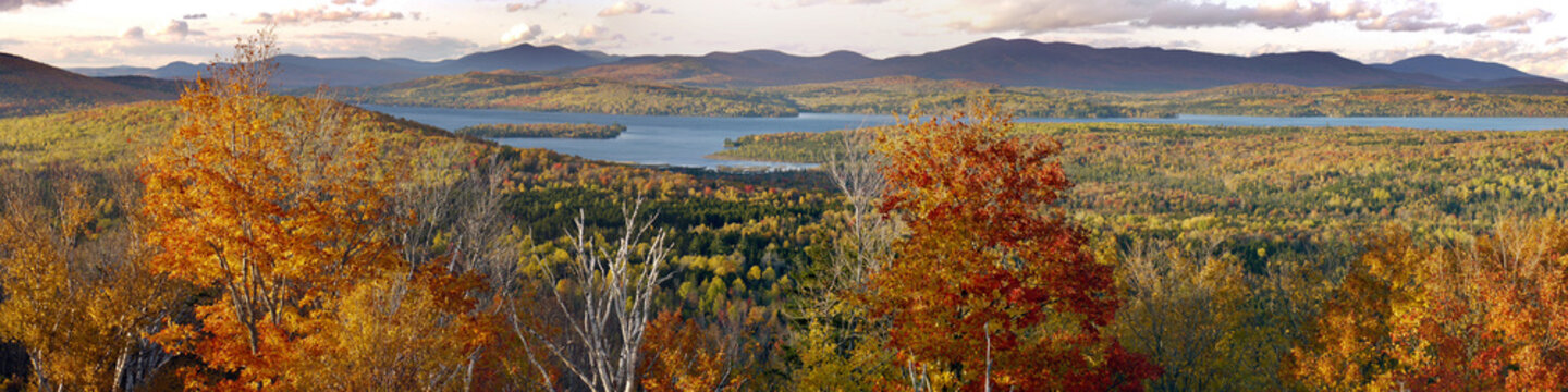 Rangeley lakes in  the fall , Maine, USA.