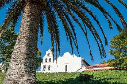 Historical Spanish mission Basilica San Diego de Alcala, California, USA