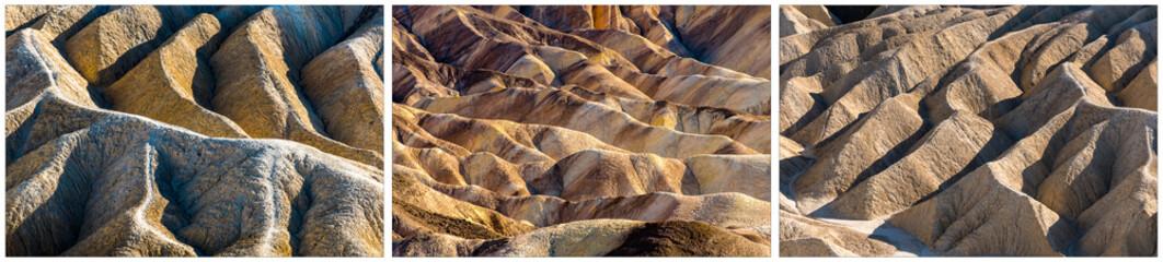 Triptychon Death Valley Zabriskie Point Wall mural