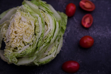 vegetables. Chinese cabbage, cherry tomatoes, sweet pepper