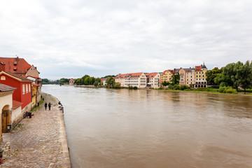 river Regnitz in Bamberg Germany