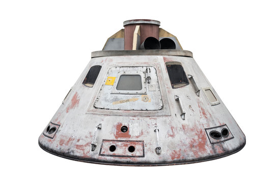 Space capsule isolated with clipping path on white background