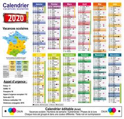 Calendrier 2020 éditable - 14