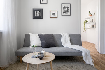 Scandinavian sofa and table