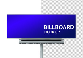 Front View Billboard Mockup on White