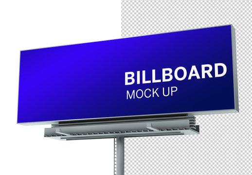 Billboard Mockup on White