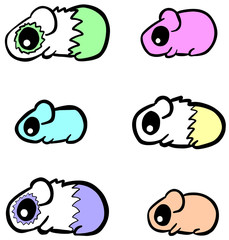 Cute Simple Illustration Vector of Rodent Guinea Pig Hamster