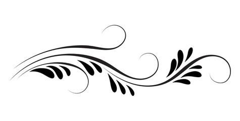 Obraz Decorative floral ornament for stencil isolated on white - fototapety do salonu