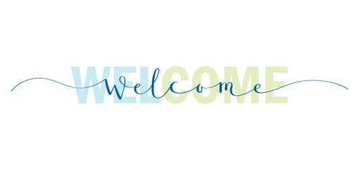 WELCOME typography banner Wall mural