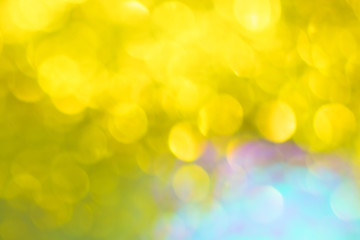 Golden glitter festive background with bokeh lights. Celebration concept for New Year, Christmas...