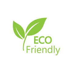 Eco icon. Eco friendly sign. Vector illustration, flat design.