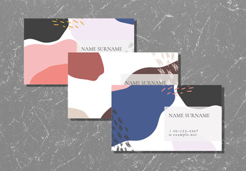 Colorful Abstract Business Card Layouts