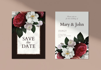 Floral Wedding Save the Date Layouts