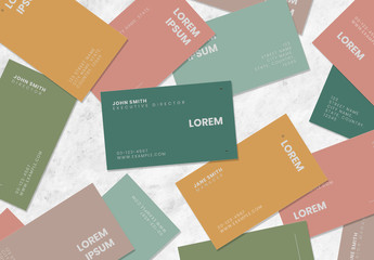 Typographic Business Card Layouts