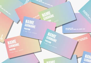 Gradient Typographic Business Card Layouts