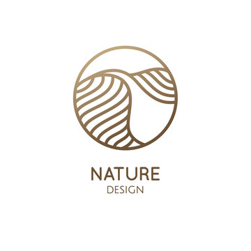 Simple logo pattern structure of desert
