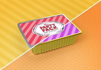 Party Foil Tray Cover Packaging Mockup