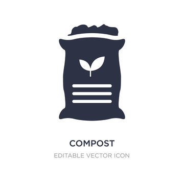 compost icon on white background. Simple element illustration from General concept.