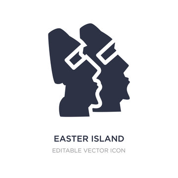 easter island icon on white background. Simple element illustration from Monuments concept.