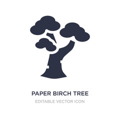 paper birch tree icon on white background. Simple element illustration from Nature concept.