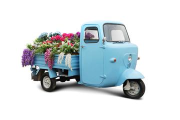 Vintage trike with flowers