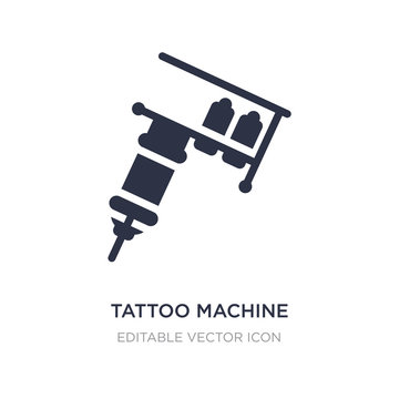 tattoo machine icon on white background. Simple element illustration from Other concept.