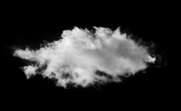 White cloud on a black isolated background to overlay the image_