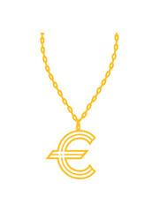 geld halskette schmuck gold euro europa symbol zeichen reich millionär reichtum sparen währung verdienen finanzstark stinkreich profit logo design gangster rapper
