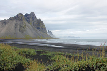 Mountains at a black beach (Iceland)