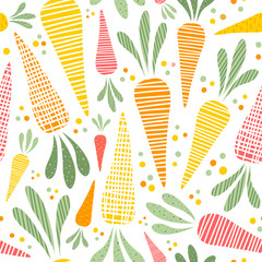 Lamas personalizadas para cocina con tu foto Seamless vector pattern with cute carrots. Stylish vegetable background.