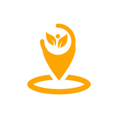 Appearance, aspect, design, eye, look, view, creative vision orange color icon