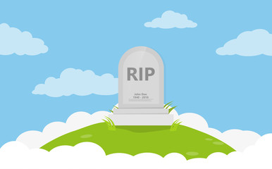 Grave flat icon background vector Fototapete
