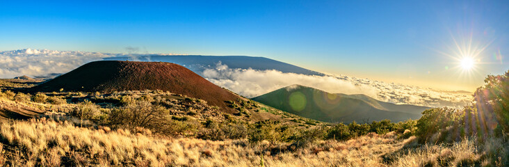 view from Mauna Kea Summit on the Big Island of Hawaii