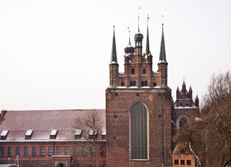 Church of Holy Trinity in Gdansk. Poland