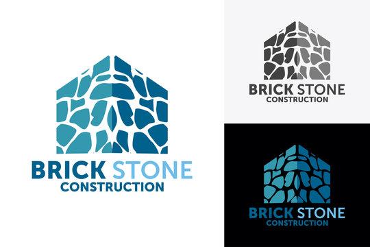 brick house logo design template element