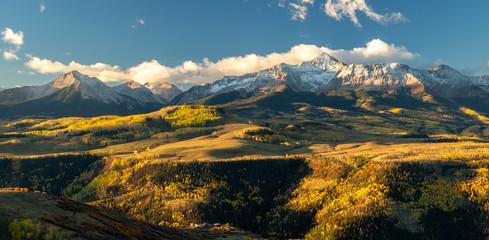 Golden Autumn Aspen on Last Dollar Road near Telluride Colorado