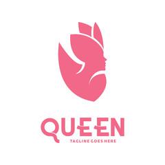 Beauty Women Logotype. Spa And Fashion. Botique and Salon. Queen Vector Logo Icon Symbol.