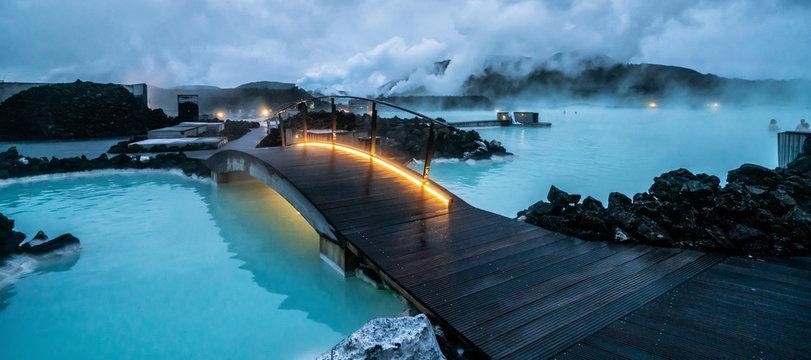 Geothermal Spa Blue Lagoon in Reykjavik, Iceland.