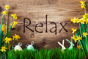 Easter Decoration, Grass, Text Relax, Bunny, Egg
