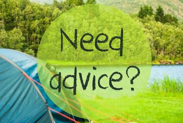 Lake Camping, Text Need Advice, Beautiful Nature