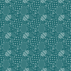 Seamless simple pattern with ornamental Collection of Flat icon Design Easter eggs