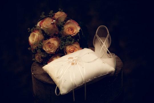 Hochzeit mit Brautschuh