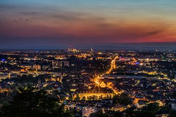 Karlsruhe Skyline Nacht