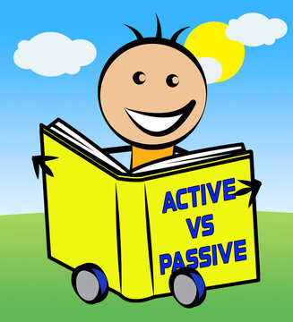 Passive Or Active Kid Means Aggressive Energetic Action 3d Illustration