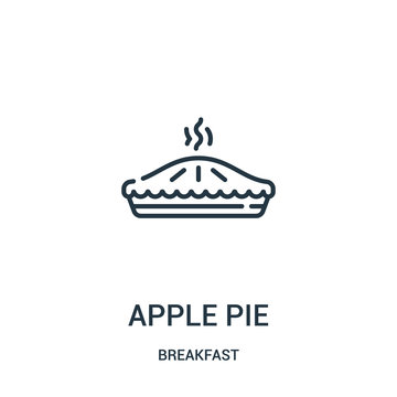 apple pie icon vector from breakfast collection. Thin line apple pie outline icon vector illustration. Linear symbol for use on web and mobile apps, logo, print media.